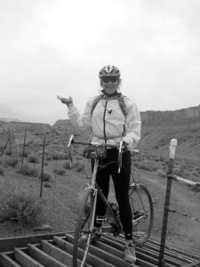 Kim discovering cycling in Moab, UT