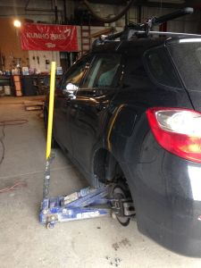 Flat tire repair at Gale's Tire & Oil, Ely, NV