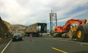 Union Pacific pulling a derailed train off the tracks