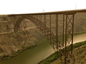 The 486' high Perrine Memorial Bridge in Twin Falls, ID