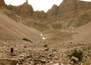 Nevada's only glacier, at the base of Wheeler Peak in Great Basin National Park