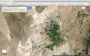 Map of Topaz Internment Center